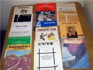 15 piece jazz solo piano lot Neal hefti Quincy Jones sheet music