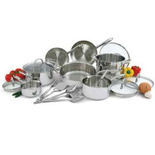 Wolfgang Puck 18 PC Stainless Steel Cookware Pots Pans