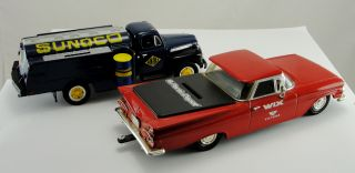Set 2 Toy Car Bank ERTL 1959 Chevy El Camino First Gear 1951 Ford F6