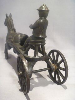 RARE Harness Racing  Made in Canada  Cast Iron Driver Horse Pulling