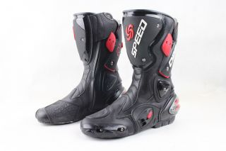 NEW COOL MENS LEATHER MOTORCYCLE RACING BOOTS ~ US ALL SIZE
