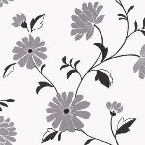 Arthouse Chelsea Wallpaper Black White Silver 405405
