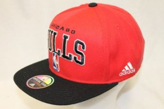 chicago bulls nba adidas hat cap snapback official team headwear red