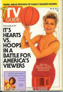TV GUIDE 3 30 1991 CHERYL LADD JIM VALVANO WHITNEY HOUSTON BLOSSOM