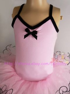pink white child Girls New Party Leotard Ballet Tutu Dress 3 8Y