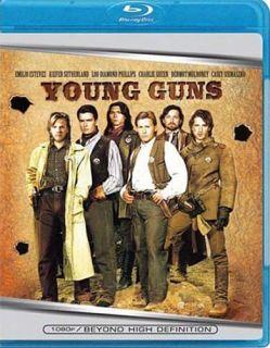 Young Guns Blu Ray Charlie Sheen Brand New