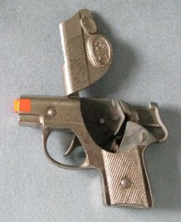 Dick Tracy Metal Repeating Cap Gun Vintage 1950s Toy Pistol Hubley