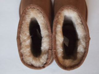 AUSTRALIA Classic Short Boots KIDS 13 CHESTNUT Brown Leather New 5251