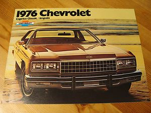 Chevrolet Caprice Classic Impala Car Brochure 1976