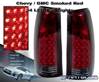 88 98 Chevy C K Truck Blazer Sierra Suburban 34 LED Smoke Red Tail