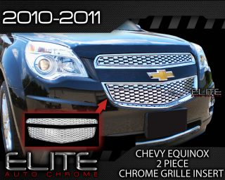 2010 2011 Chevy Equinox Chrome Grille Overlay Factory Style