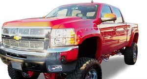 07 11 Chevy Silverado 2500HD 3500HD Fender Flares POCKET n BOLT Style