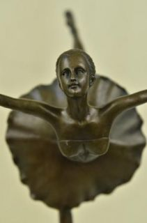 Bronze Handcrafted Art Sculpture Prima Ballerina Dancer Ballet Statue