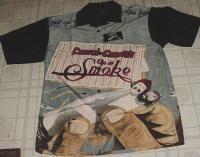 CHEECH AND & CHONG UP IN SMOKE MENS DRESS SHIRT medium marijuanna pot