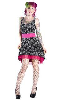Sourpuss Cheeky Dress Pink Skull Cupcake Rockabilly Gothic Tattoo