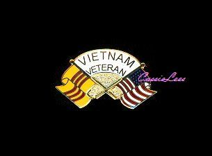 Vietnam Veteran Wavy Flags Military Lapel Pin Hat Pin