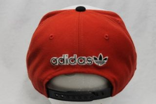 CHICAGO BULLS NBA ADIDAS HAT CAP SNAPBACK RED WHITE AND BLACK BULL