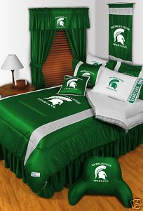 Michigan State Spartans Comforter Bedskirt Sham Set