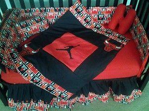 New Crib Bedding Set w Michael Jordan Chicago Bulls Fabric