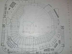 Busch Stadium Blueprint St Louis Cardinals Pujols 2011 World Series