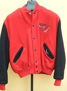 Vintage Delong Chicago Bulls Wool Varsity Jacket Mens 46 XL Made in