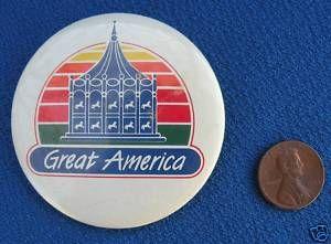 Great America Amusement Park Chicago Six Flags Button