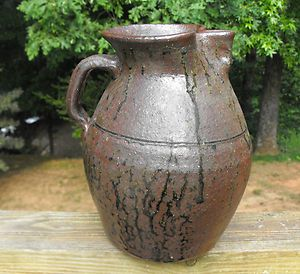 Lanier Meaders Georgia Southern Folk Pottery Tobacco Spit Glazed