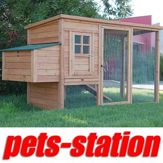 Large Chicken Coop Rabbit Hutch Ferret Cage Hen Chook House 9 Guinea