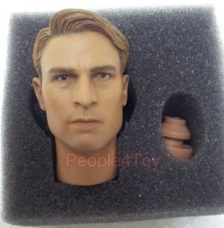 Figure Head Sculpt Chris Evans for Headplay Hottoys Captain