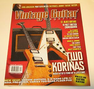 Guitar EKO Gibson Smeck BANJO Korina Flying V Explorer Chris Duarte