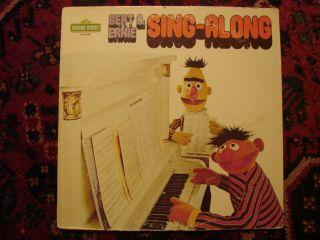 Vintage Sesame Street Bert Ernie Sing Along Record 1975