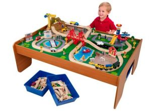 KidKraft Ride Around Town Train Set w Table 100 Piece New Fast SHIP