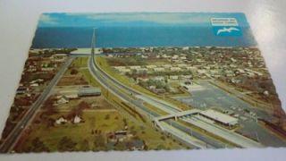 VA Chesapeake Bay Bridge Tunnel Entrance Postcard Aerial View
