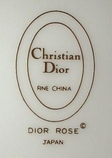 Christian Dior China Dior Rose Cup Saucer Set