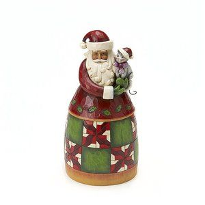 Jim Shore Heartwood Creek Santa Classic Santa Holding Cat Figurine