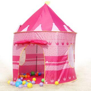 New Portable Folding Kids Play Tent Castle Palace Child Princess Cubby