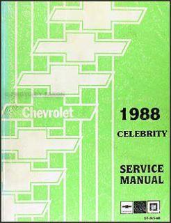 1988 chevrolet celebrity repair shop manual chevy 88 chevrolet 1988