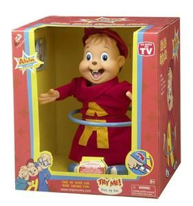 chipmunk hoop singing dancing doll Simon Theodore chipmunks song 2004