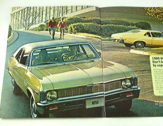 1969 69 Chevrolet Chevy Nova Brochure Coupe Sedan SS