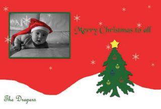 Custom Personalized Digital Christmas Card Holiday Printable 6 x 4