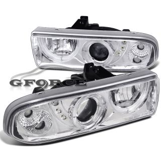 1998 2004 Chevy S10 Blazer Halo Projector SMD LED Headlights Head