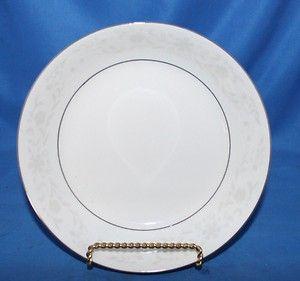 Fine China of China Dinnerware Round Serving Bowl White Gray Platinum