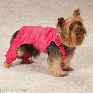 Small Dog Coat Yorkie Chihuahua Toy Poodle Dog Snow Bib Waterproof ...