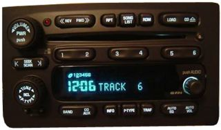 2005 GMC Envoy Factory Stereo 6 Disc Changer CD Player Radio