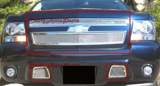 07 08 09 10 Chevy Tahoe Avalanche Suburban Steel Mash Grille Grill
