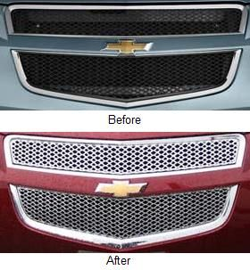 Chevy Traverse LS Lt Models Gi 75 Chromed ABS Grill Overlay 2 PC Trim