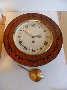 13 Dia USSR Lantar Front Wind 8 Day Pendulum Wall Clock