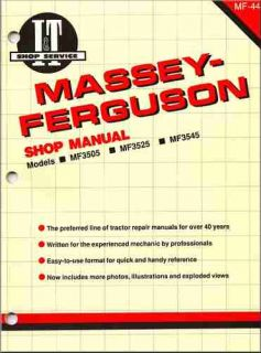MASSEY FERGUSON TRACTOR REPAIR SHOP & SERVICE MANUAL MF3505, MF3525