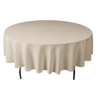 90 in Round Polyester Tablecloth High Quality for Wedding or
