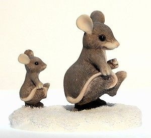 Charming Tails Follow in My Footsteps 96 Mouse Baby Walking Mint
